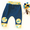 """Organic cotton """"Bug Patch"""" Pants in Navy and Mustard"""